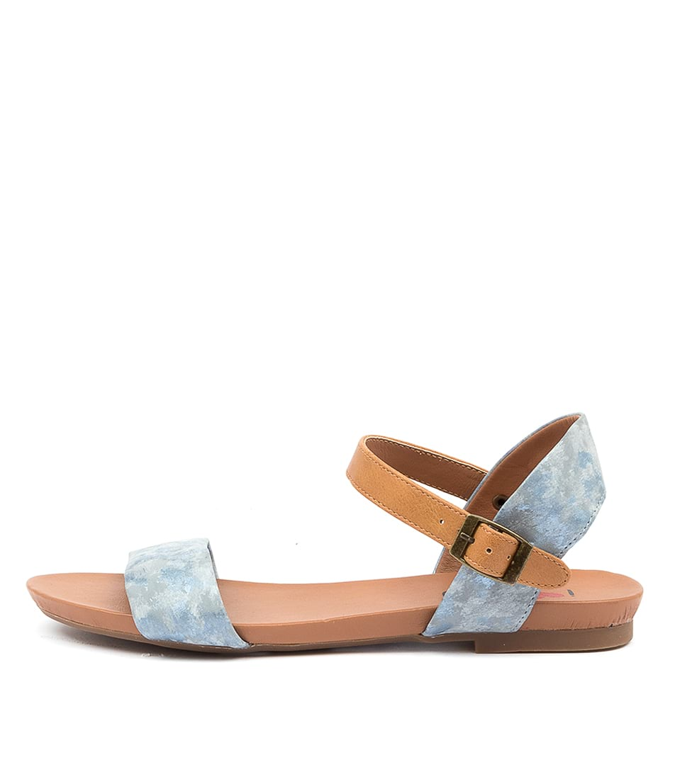 Buy I Love Billy Saratoga Steel Marble Tan Flat Sandals online with free shipping