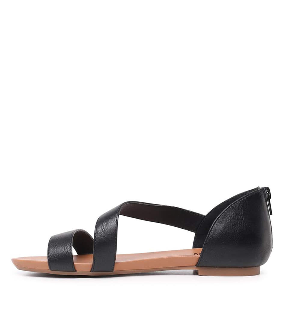 Buy I Love Billy Sarran Black Flat Sandals online with free shipping