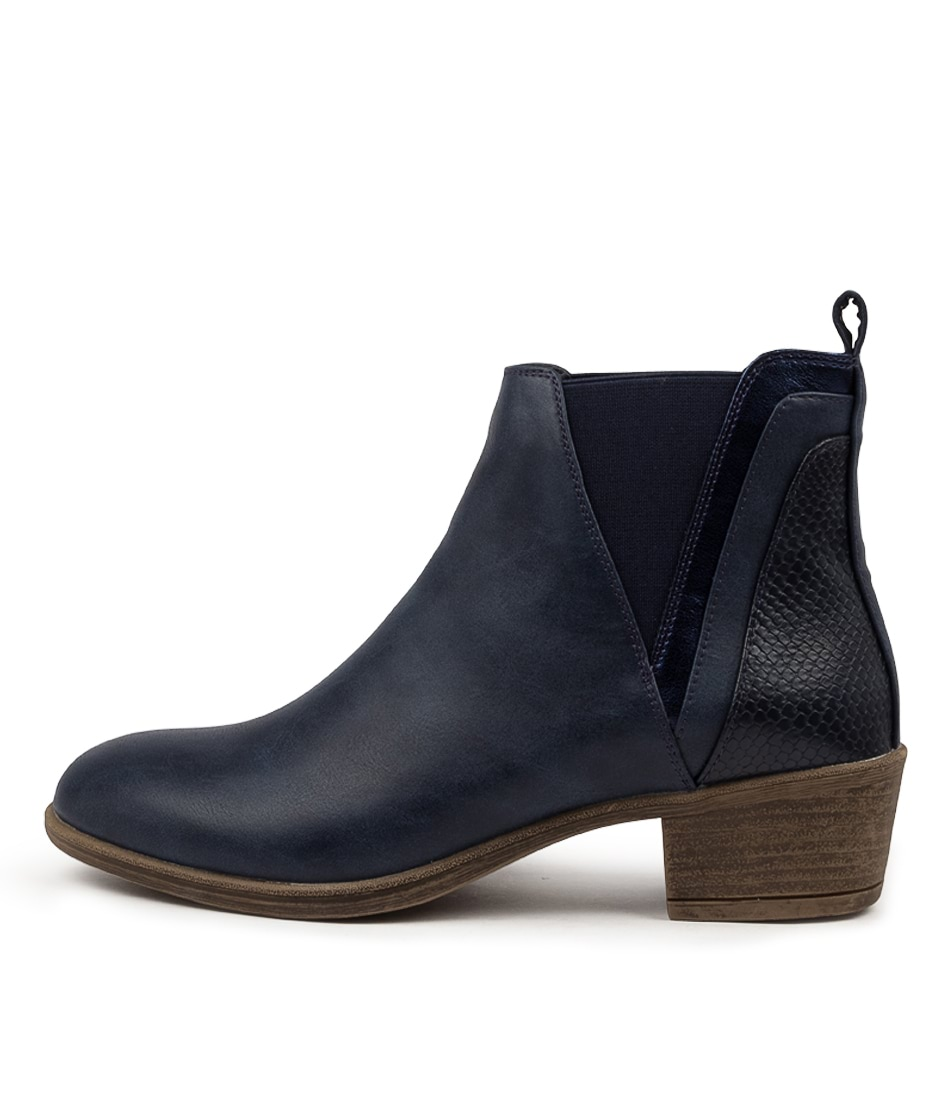 Buy I Love Billy Adorlee Navy Multi Ankle Boots online with free shipping