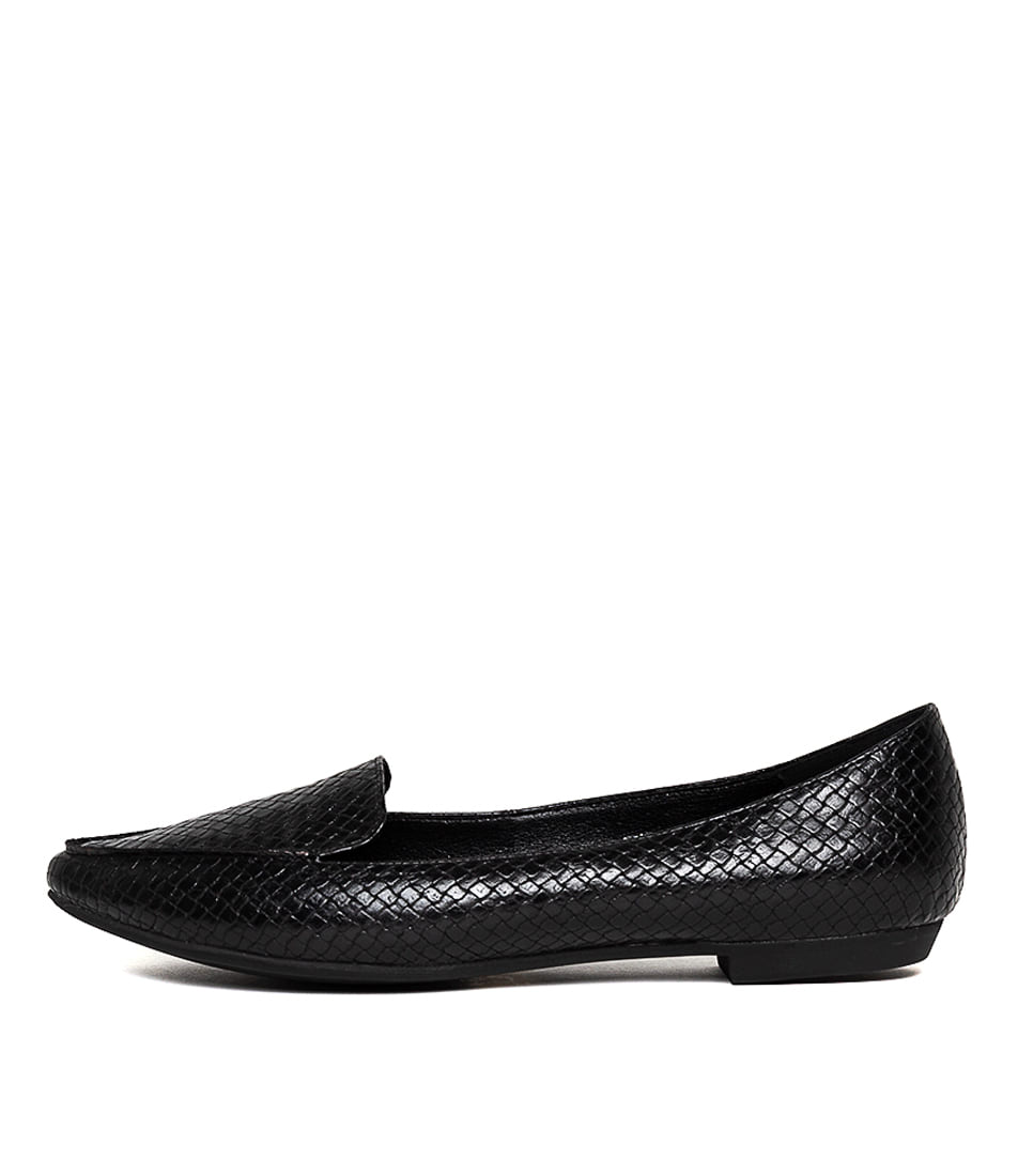 Buy I Love Billy Burleigh Black Reptile Flats online with free shipping