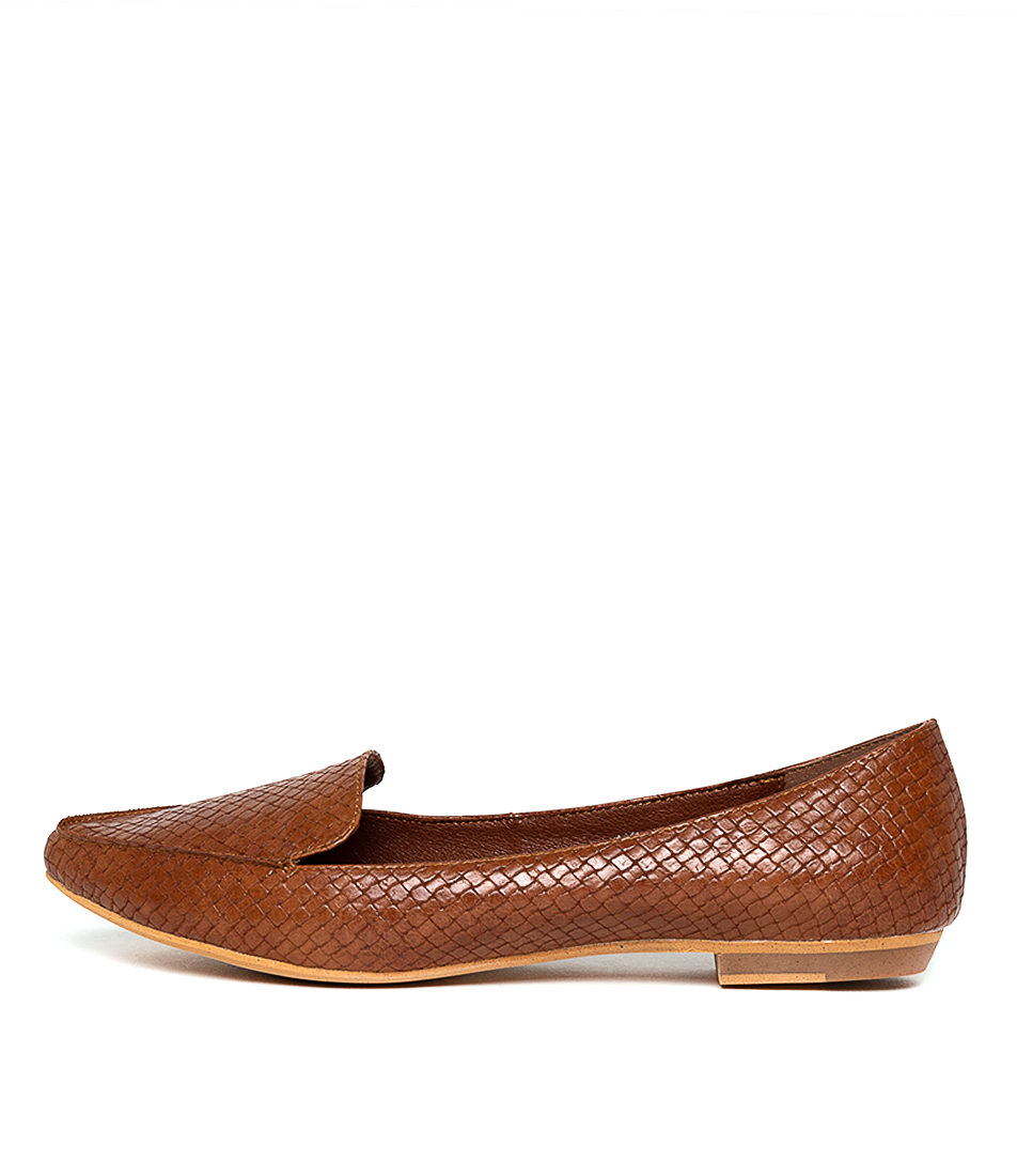 Buy I Love Billy Burleigh Brandy Reptile Flats online with free shipping