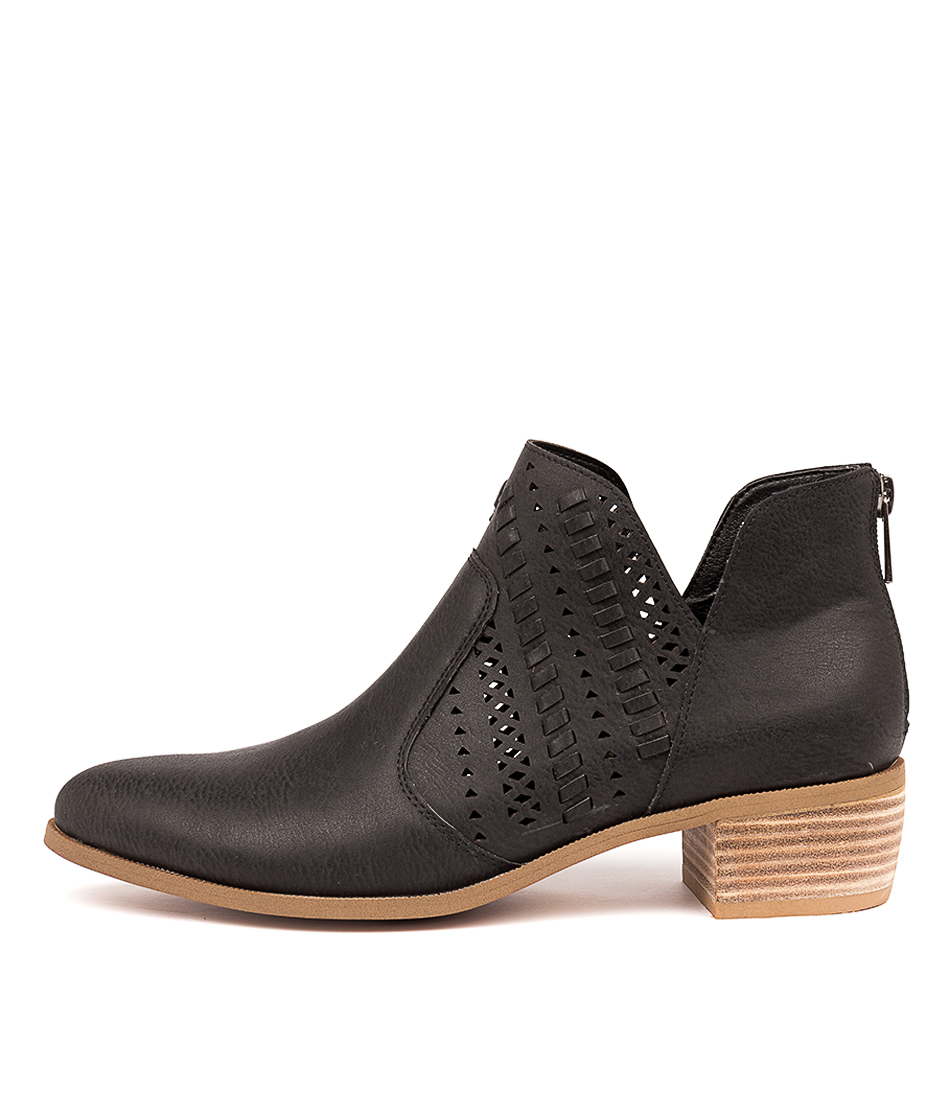 Buy I Love Billy Draven Black Ankle Boots online with free shipping