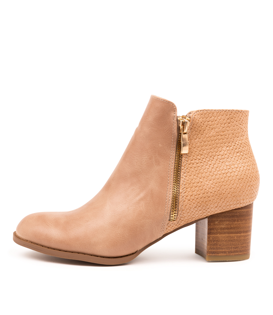 Buy I Love Billy Justen Blush Blush Ankle Boots online with free shipping
