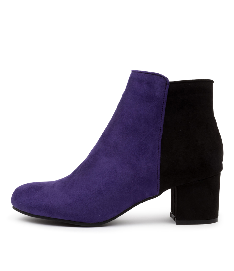 Buy I Love Billy Karda Purple Black Ankle Boots online with free shipping