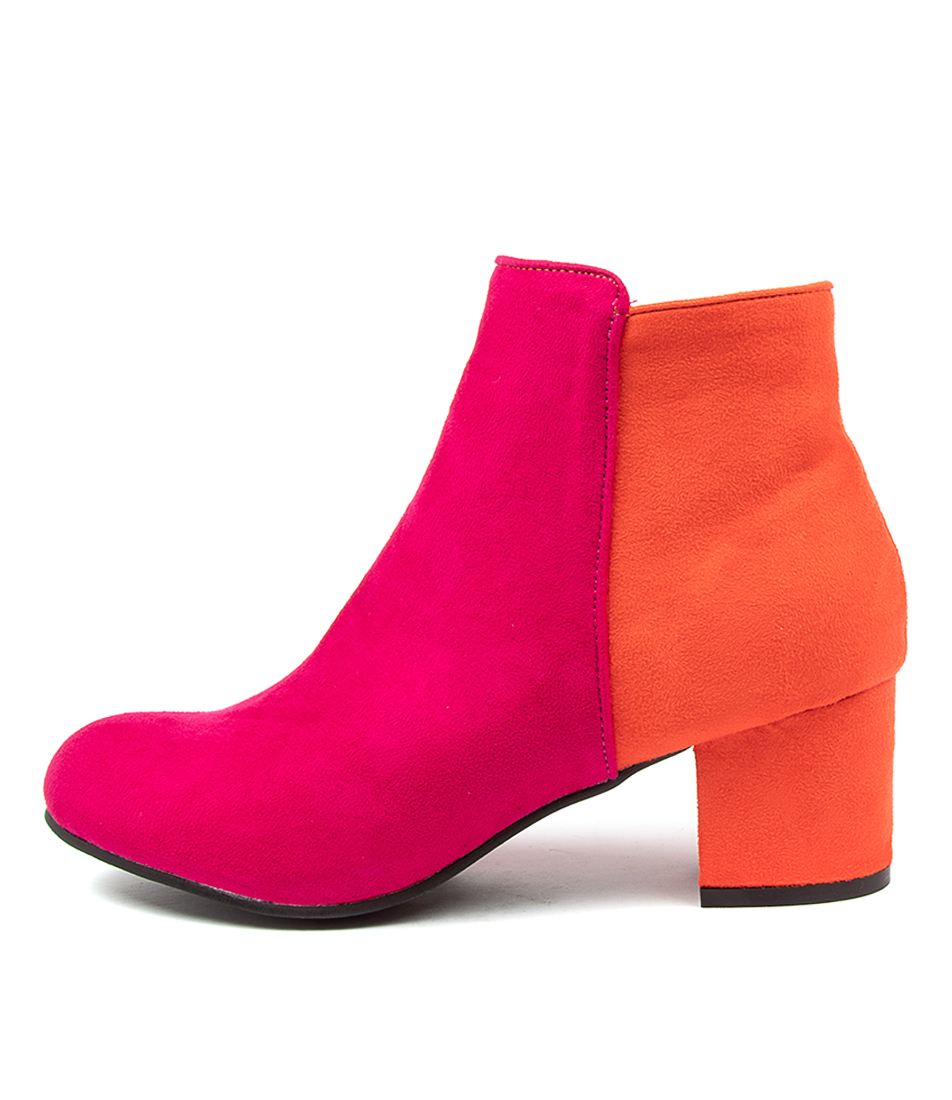 Buy I Love Billy Karda Fuchsia Orange Ankle Boots online with free shipping