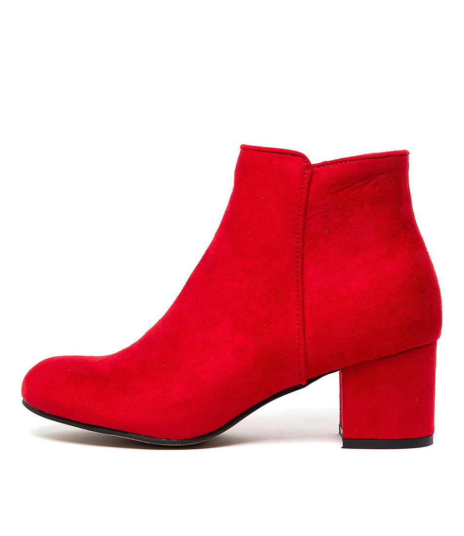 Buy I Love Billy Karda Red Ankle Boots online with free shipping