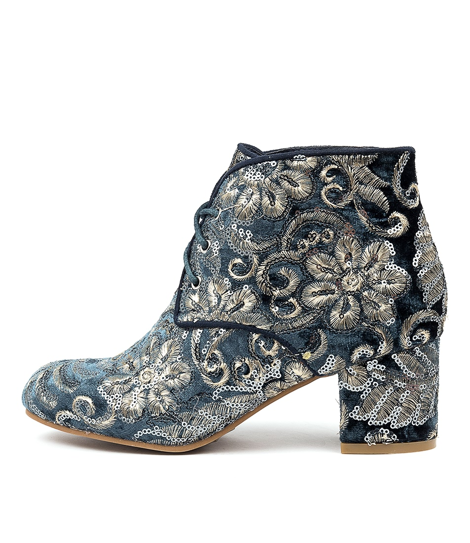 Buy I Love Billy Kimora Steel Sparkle Ankle Boots online with free shipping