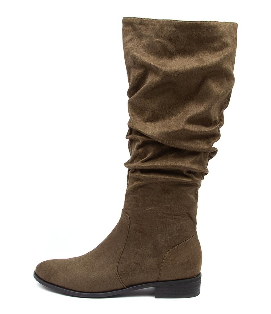 Buy I Love Billy Lirama Khaki Long Boots online with free shipping