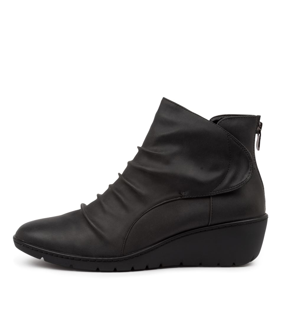 Buy I Love Billy Nansen Jet Black Ankle Boots online with free shipping