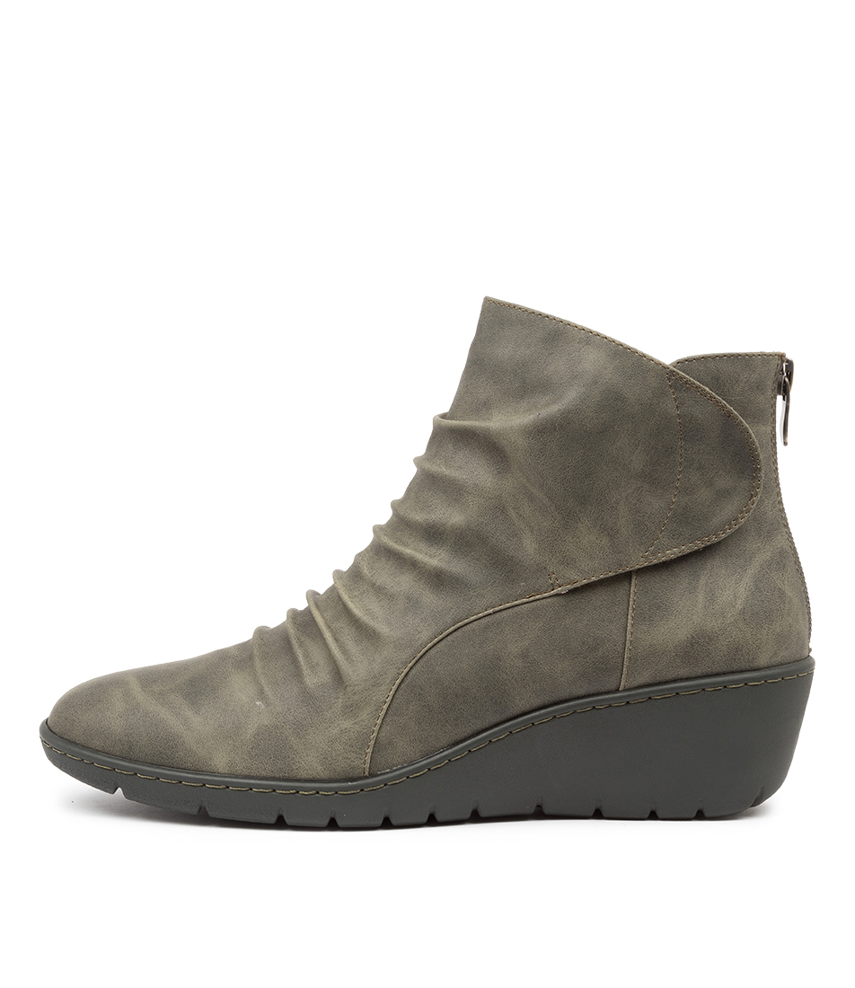 Buy I Love Billy Nansen Olive Ankle Boots online with free shipping