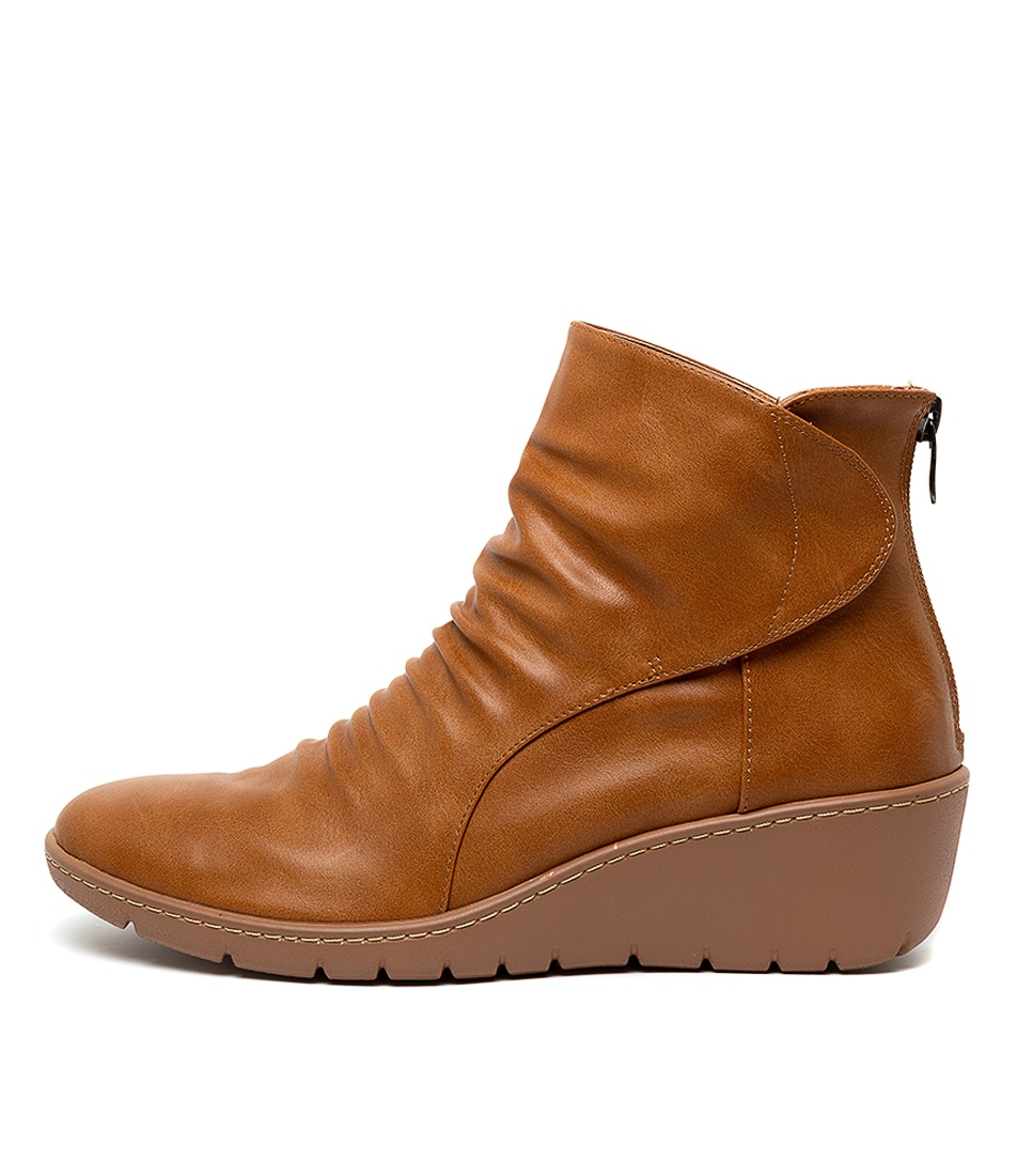 Buy I Love Billy Nansen Tan Ankle Boots online with free shipping