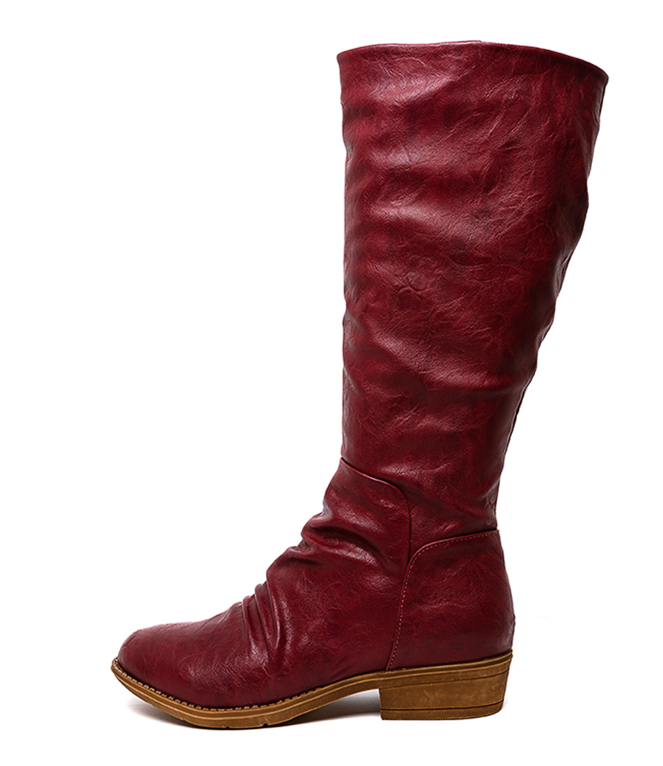 Buy I Love Billy Rexit Dk Red Long Boots online with free shipping