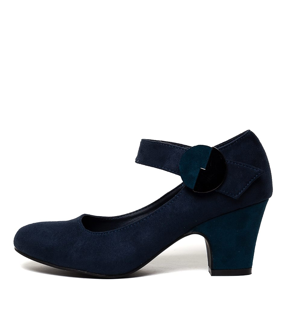 Buy I Love Billy Sarni Navy Teal High Heels online with free shipping