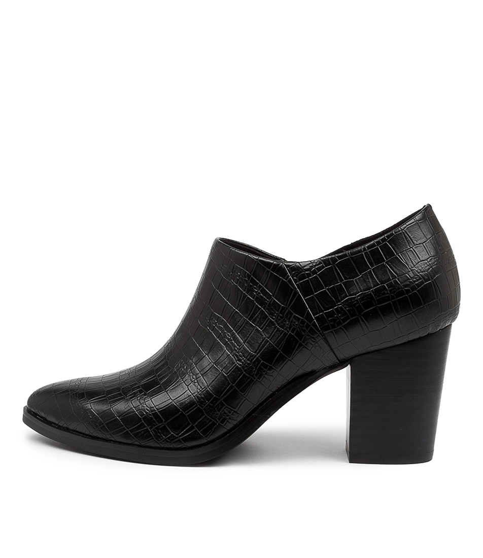 Buy I Love Billy Tiera Black Croc Ankle Boots online with free shipping