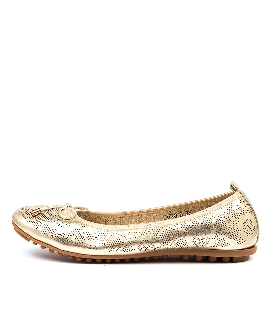 Buy I Love Billy Cahlo Il Pale Gold Flats online with free shipping