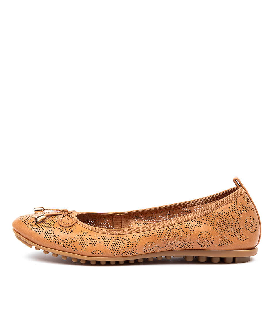 Buy I Love Billy Cahlo Il Tan Flats online with free shipping