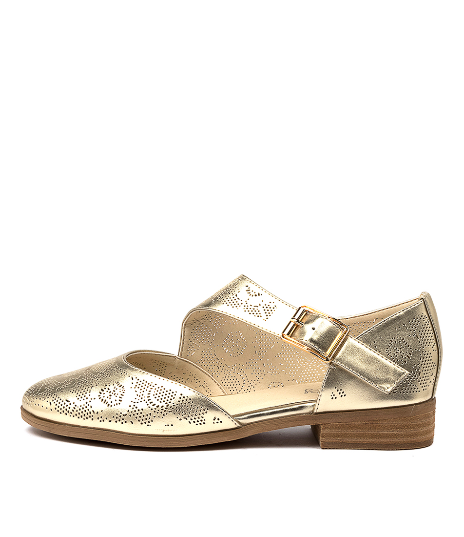 Buy I Love Billy Quiddo Il Pale Gold Flats online with free shipping