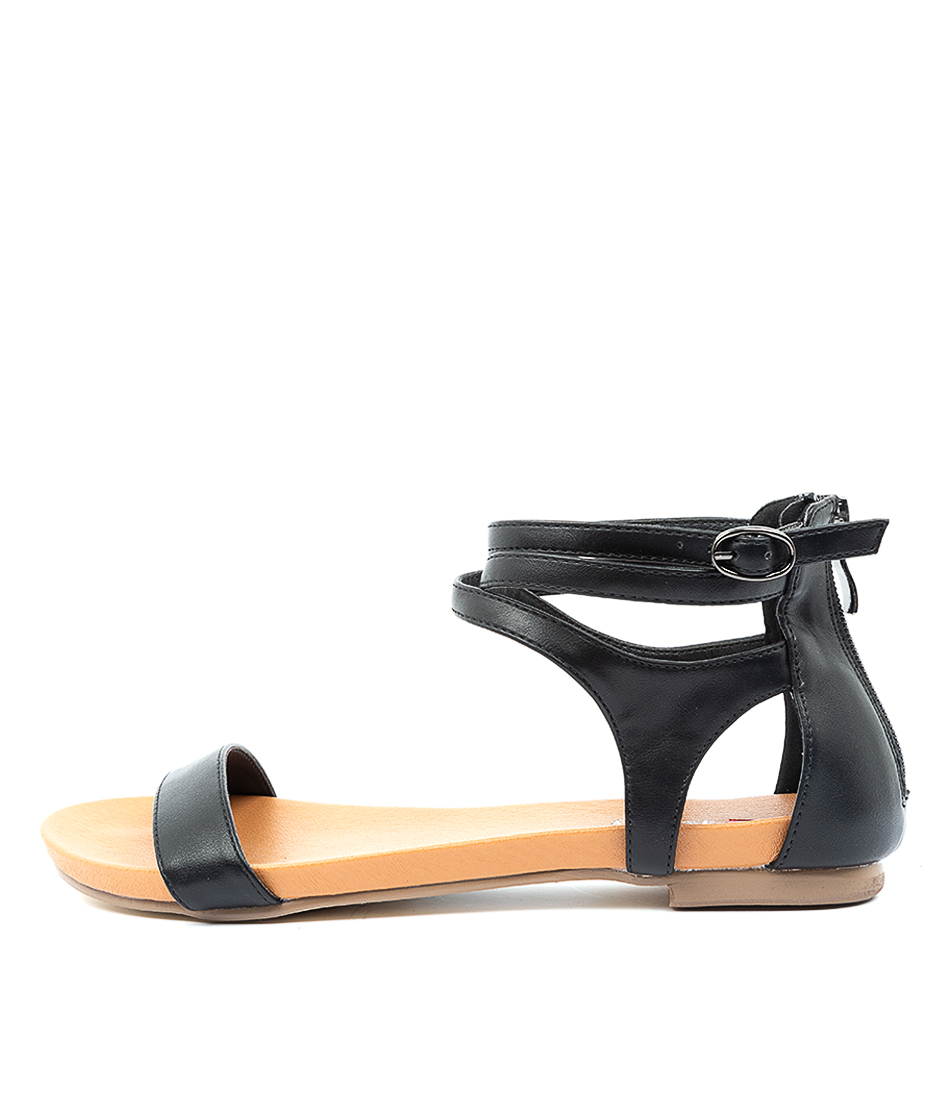 Buy I Love Billy Jarvel Il Black Flat Sandals online with free shipping