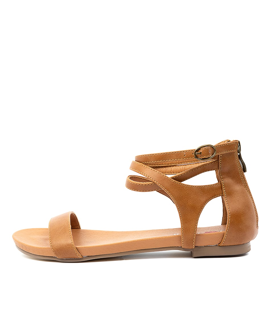 Buy I Love Billy Jarvel Il Tan Flat Sandals online with free shipping