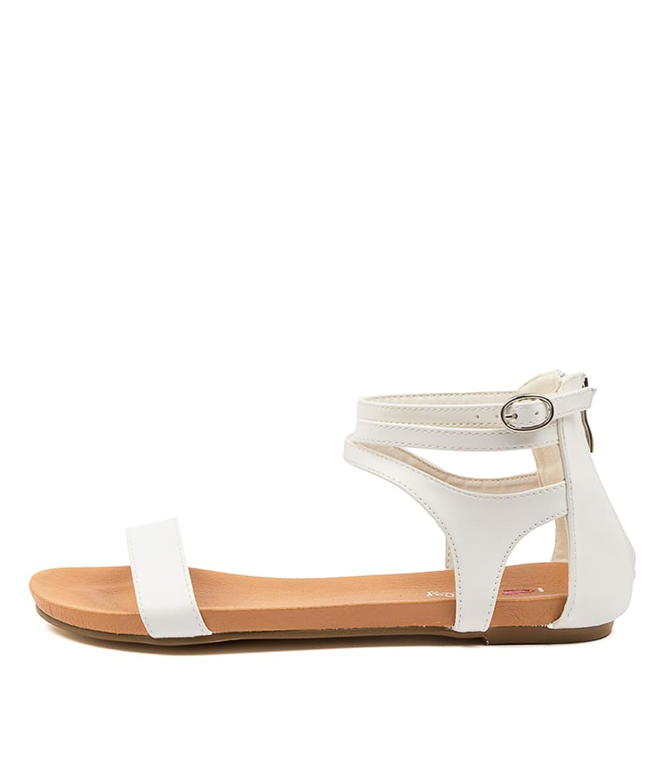 Buy I Love Billy Jarvel Il White Flat Sandals online with free shipping