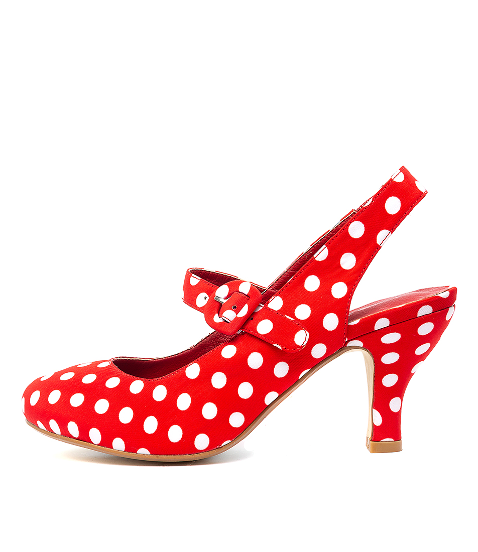 Buy I Love Billy Malee Il Red & White Spot High Heels online with free shipping