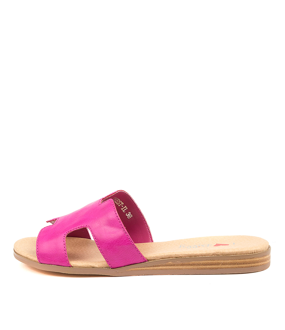 Buy I Love Billy Onest Il Fuchsia Flat Sandals online with free shipping