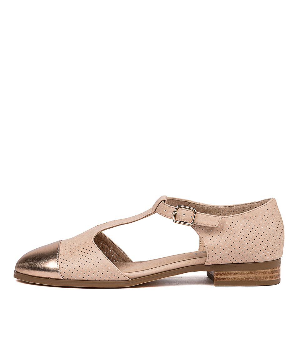 Buy I Love Billy Rambler Il Rose Gold Nude Flats online with free shipping