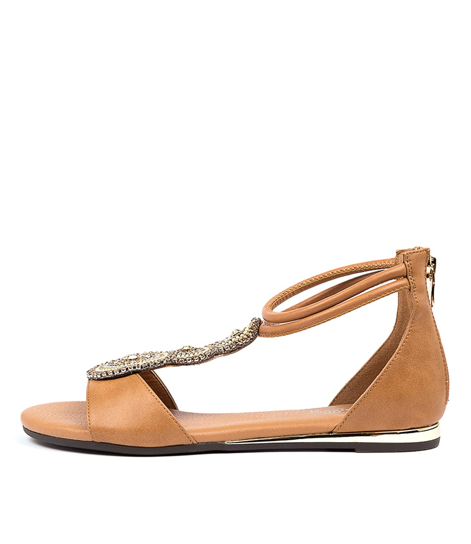 Buy I Love Billy Sirata Il Tan Flat Sandals online with free shipping