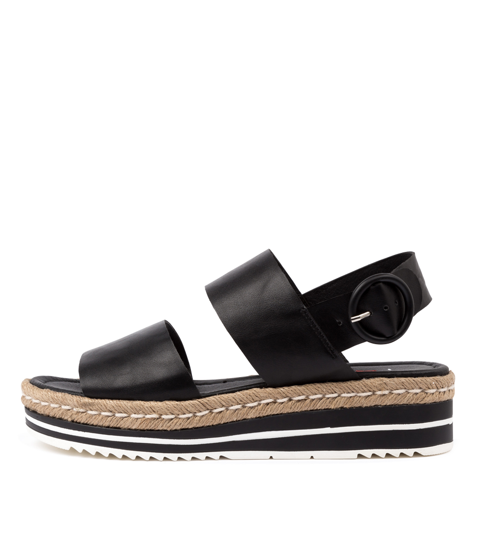 Buy I Love Billy Attica Il Black Flat Sandals online with free shipping