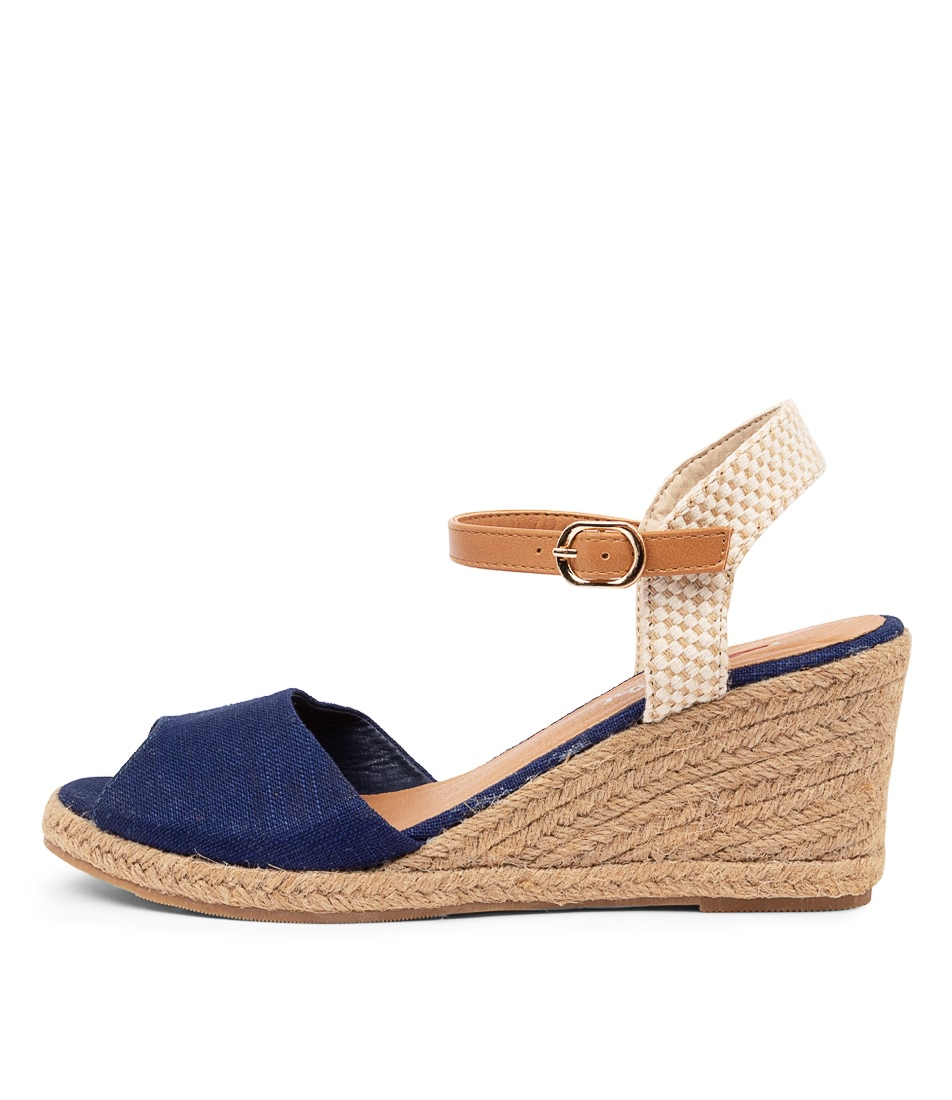 Buy I Love Billy Ferdie Il Navy Heeled Sandals online with free shipping