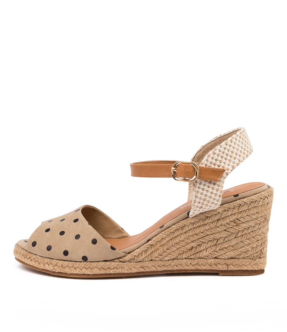 Buy I Love Billy Ferdie Il Taupe Spot Heeled Sandals online with free shipping