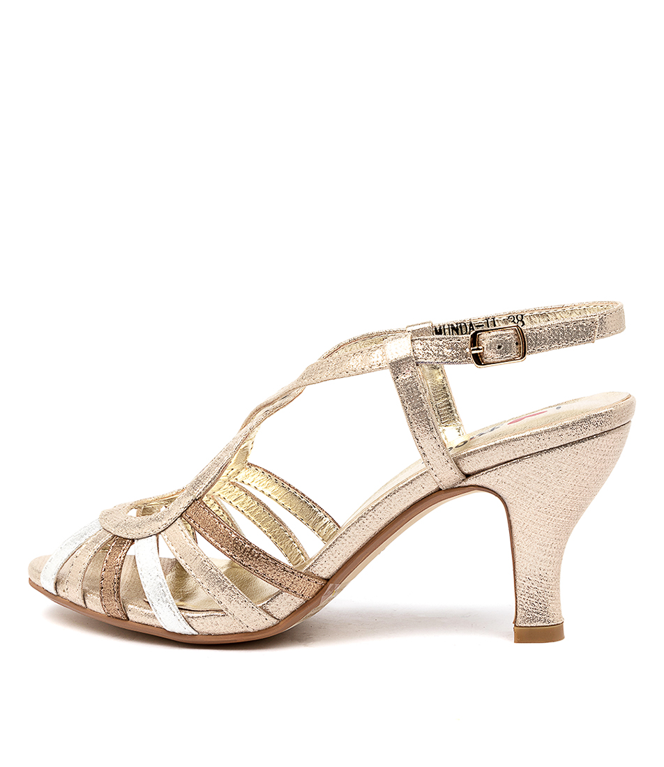 Buy I Love Billy Amunda Il Pale Gold Multi Shimmer Heeled Sandals online with free shipping