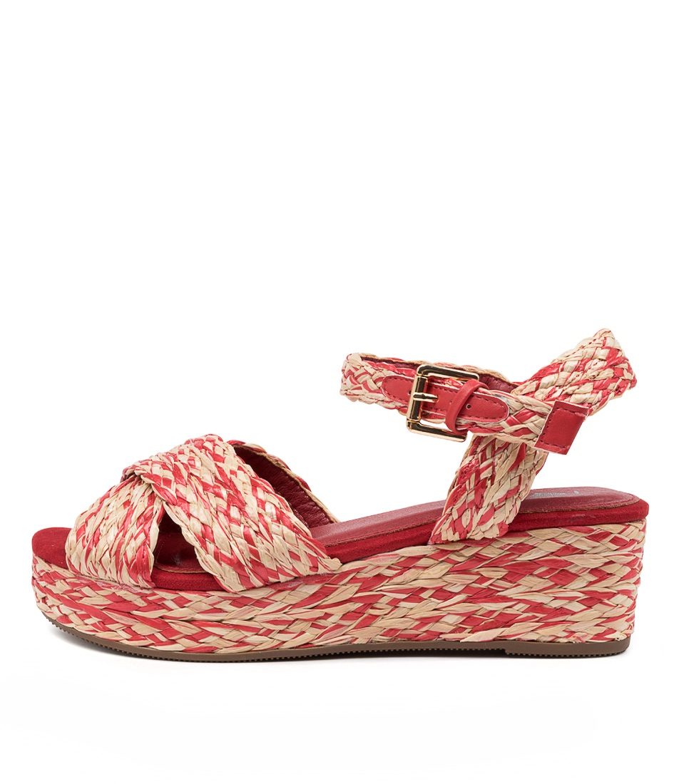 Buy I Love Billy Jimban Il Natural Red Flat Sandals online with free shipping