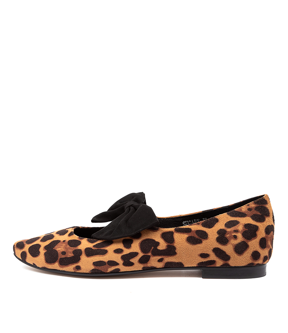 Buy I Love Billy Sugary Il Ocelot Black Flats online with free shipping