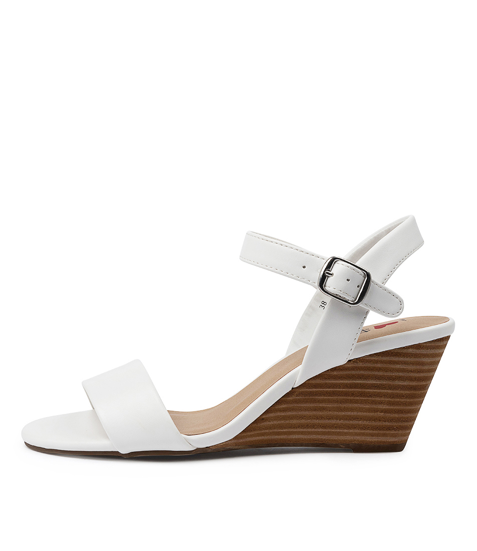 Buy I Love Billy Genna Il White Heeled Sandals online with free shipping