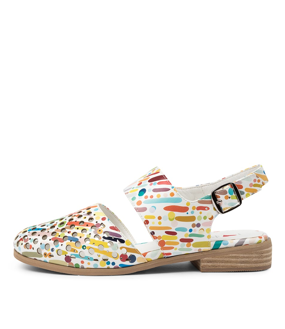Buy I Love Billy Quern Il White & Multi Carnival Flats online with free shipping