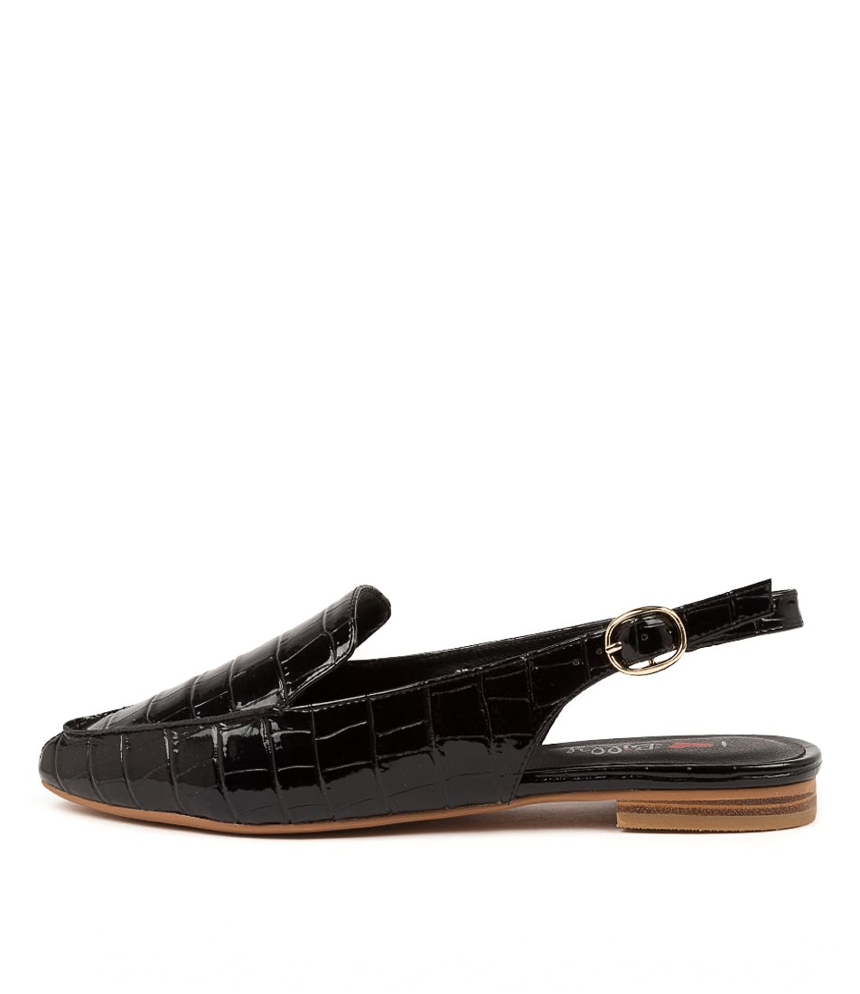 Buy I Love Billy Gramercy Il Black Croc Flats online with free shipping
