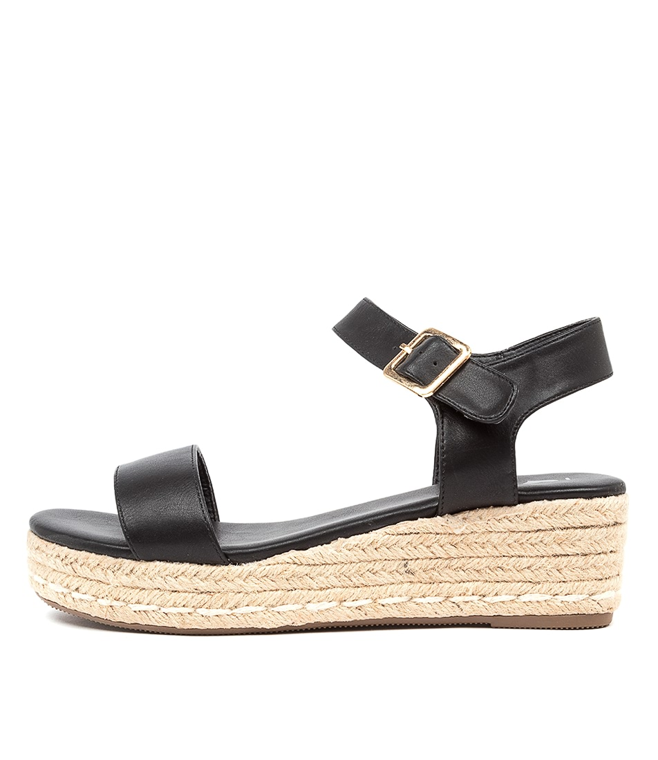 Buy I Love Billy Jolo Il Black Flat Sandals online with free shipping