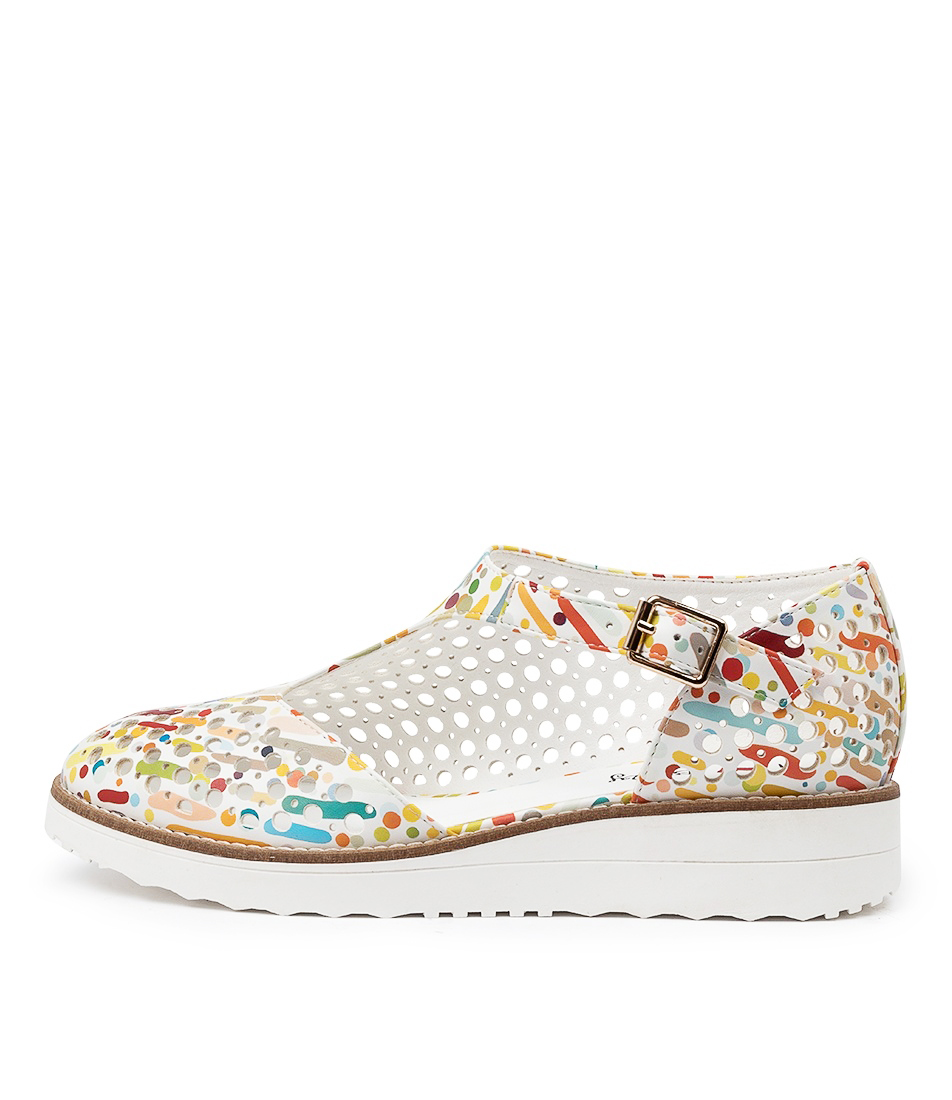 Buy I Love Billy Ocola Il White & Multi Carnival Flats online with free shipping