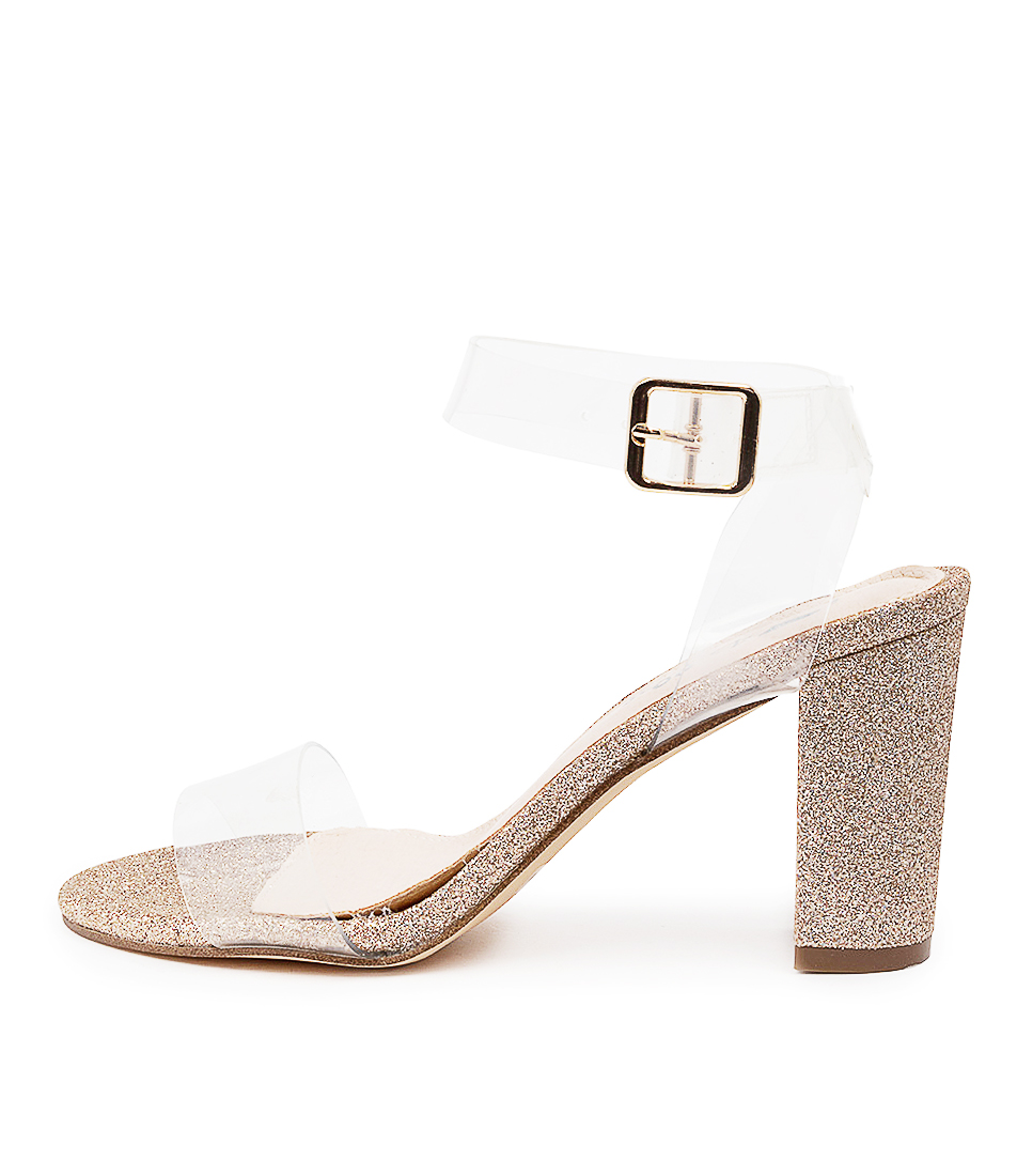 Buy I Love Billy Dranna Il Clear Rose Gold Heeled Sandals online with free shipping