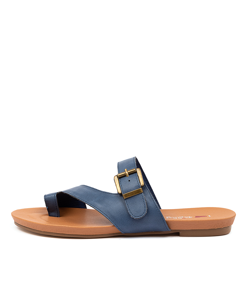 Buy I Love Billy Jibbard Il Denim Flat Sandals online with free shipping