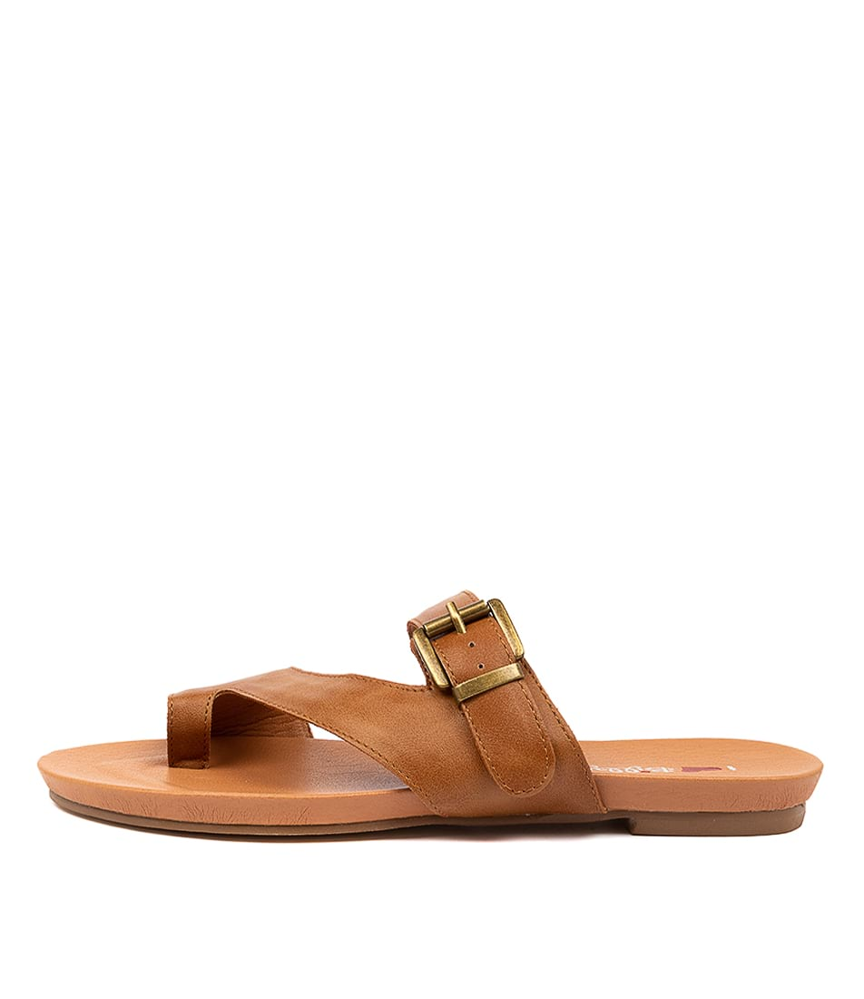 Buy I Love Billy Jibbard Il Tan Flat Sandals online with free shipping