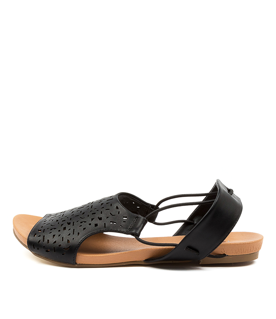 Buy I Love Billy Jyll Il Black Flat Sandals online with free shipping