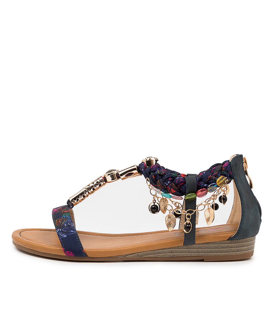 Buy I Love Billy Scot Il Navy Flat Sandals online with free shipping
