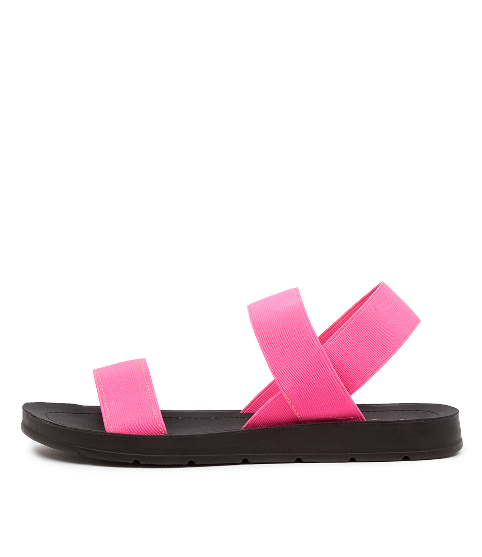 Buy I Love Billy Margie Il Pink Fluro Flat Sandals online with free shipping