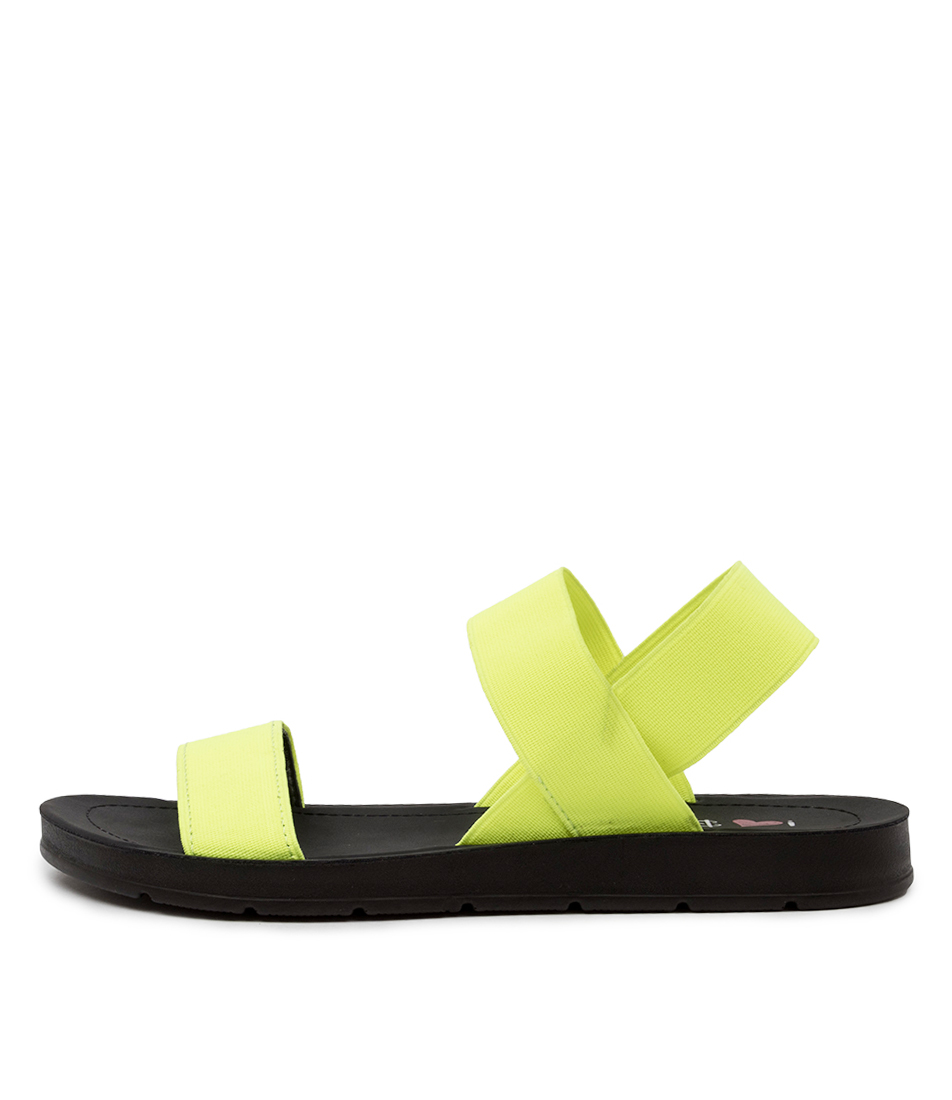 Buy I Love Billy Margie Il Yellow Fluro Flat Sandals online with free shipping