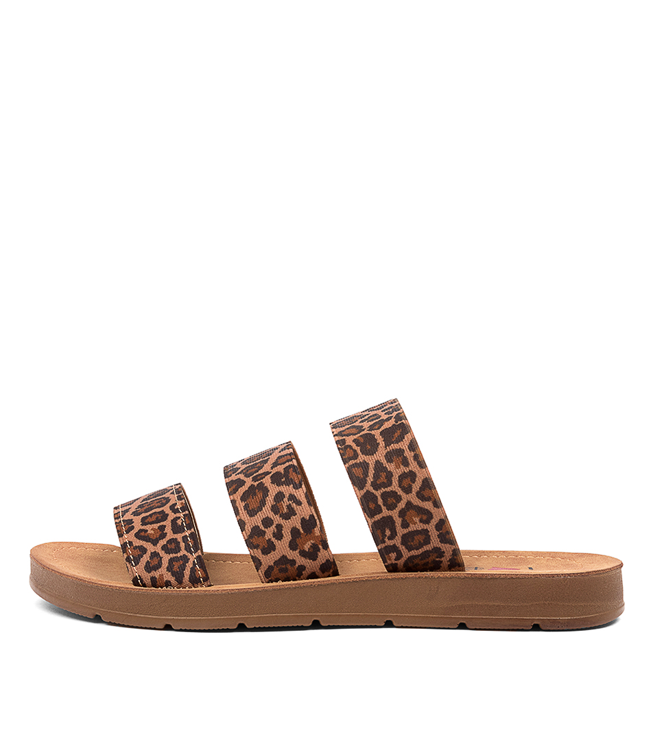 Buy I Love Billy Marcela Il Leopard Flat Sandals online with free shipping