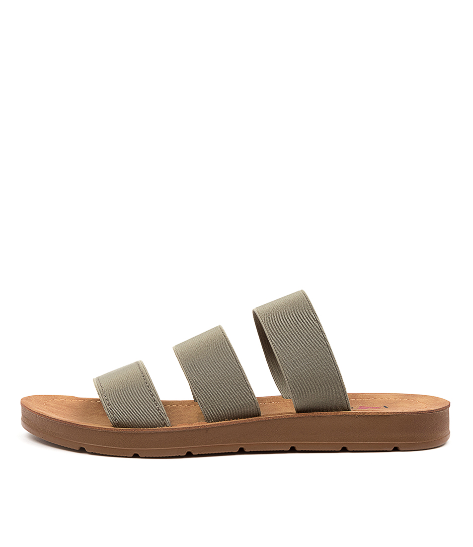Buy I Love Billy Marcela Il Khaki Flat Sandals online with free shipping