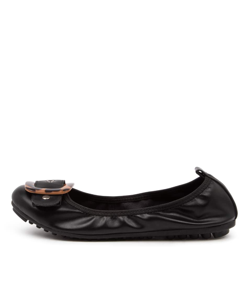 Buy I Love Billy Caron Il Black Leopard Trim Flats online with free shipping