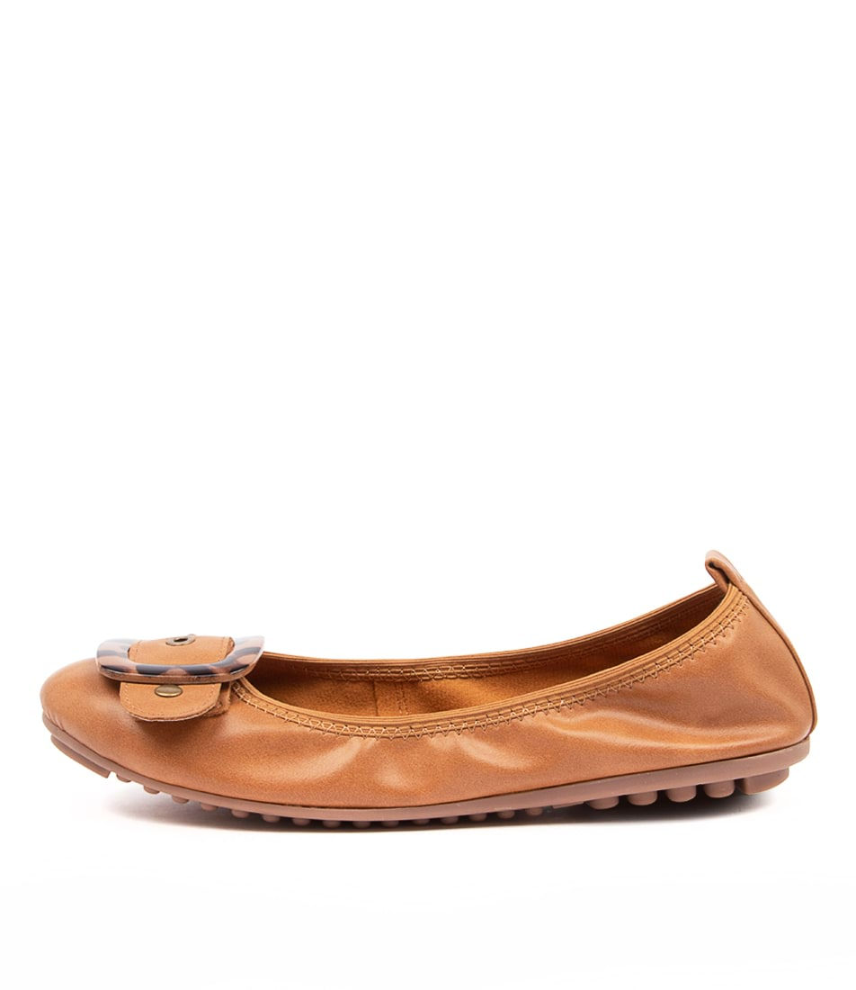 Buy I Love Billy Caron Il Tan Leopard Trim Flats online with free shipping
